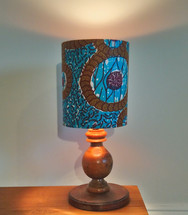 African Wax Print with Copper Lining