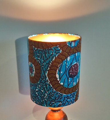 African wax print | drum lampshade