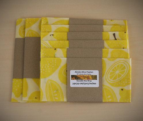 Lemons | beeswax food wraps