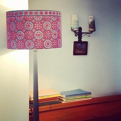 Indian block print | drum lampshade