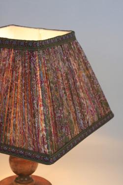 Handstitched Indian Silk Shade