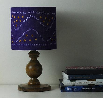 Bandhani Indian tie-dye   drum lampshade