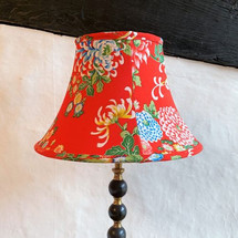 Handstitched vintage kimono lampshade