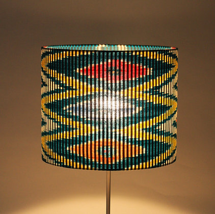Indonesian ikat zigzags | rolled lampshade