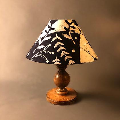 Blue and white batik | cone lampshade