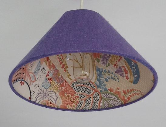 Vintage kimono fabric | cone lampshade