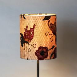 Beautiful warm light illuminating Malaysian fabric