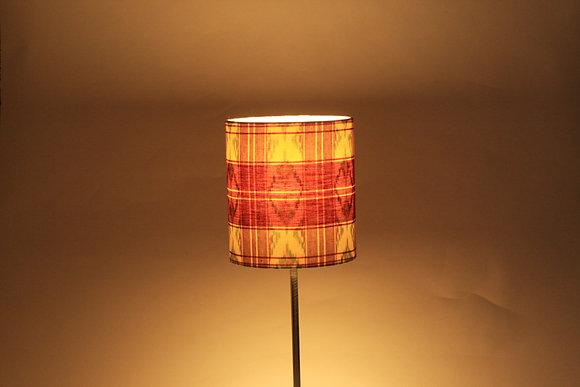 Check ikat sarong | drum lampshade