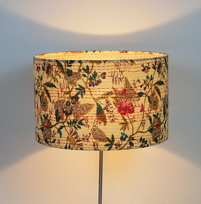 Indian  Kantha Embroidery | drum lampshade