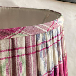 Details of pleated handstitched lampshade