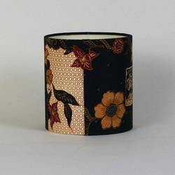 Lampshade made with Malaysian sarong fabic