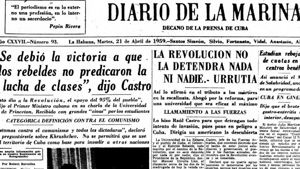 """""""La Revolución no se puede equivocar""""."""