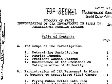 El arte de matar líderes foráneos. Documento desclasificado en el 2000.