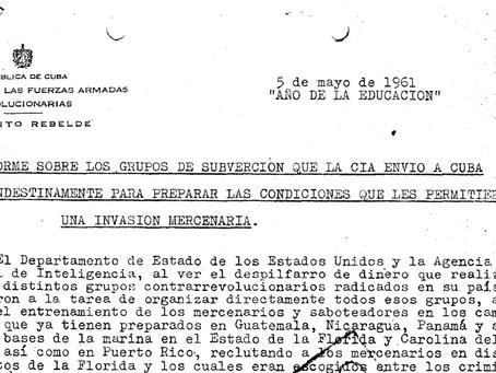 La CIA y la Subversión (sic) en Cuba. Documento desclasificado en 2001.