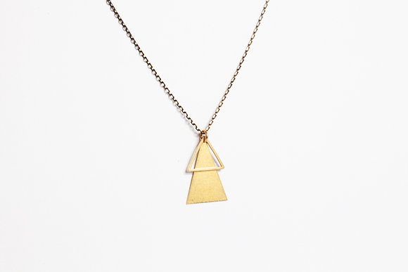 """Halskette """"LU"""" aus Messing"""
