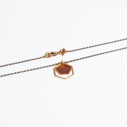"""Halskette """"HANNA"""" mit Kupfer und Messing"""