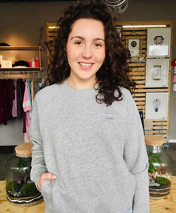 GERIPPT #almaffm Sweater | grau meliert