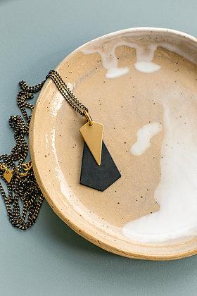 """Halskette """"DRAGON"""" in schwarz-gold"""