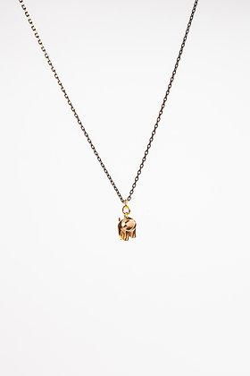 """Halskette """"ELLI"""" mit Elefant aus Messing"""