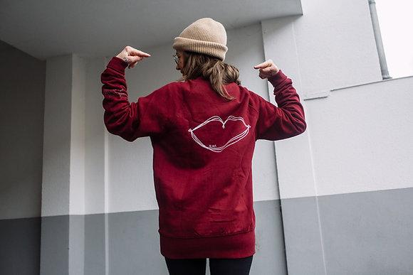 Sweater KUSS KLUB in bordeaux