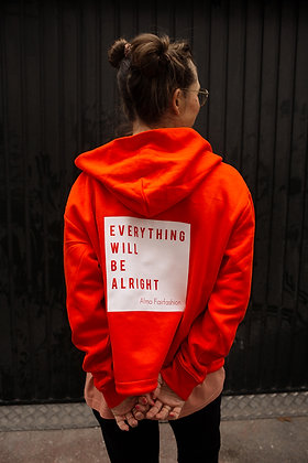 "Zipper Hoodie ""Everything will be alright"""