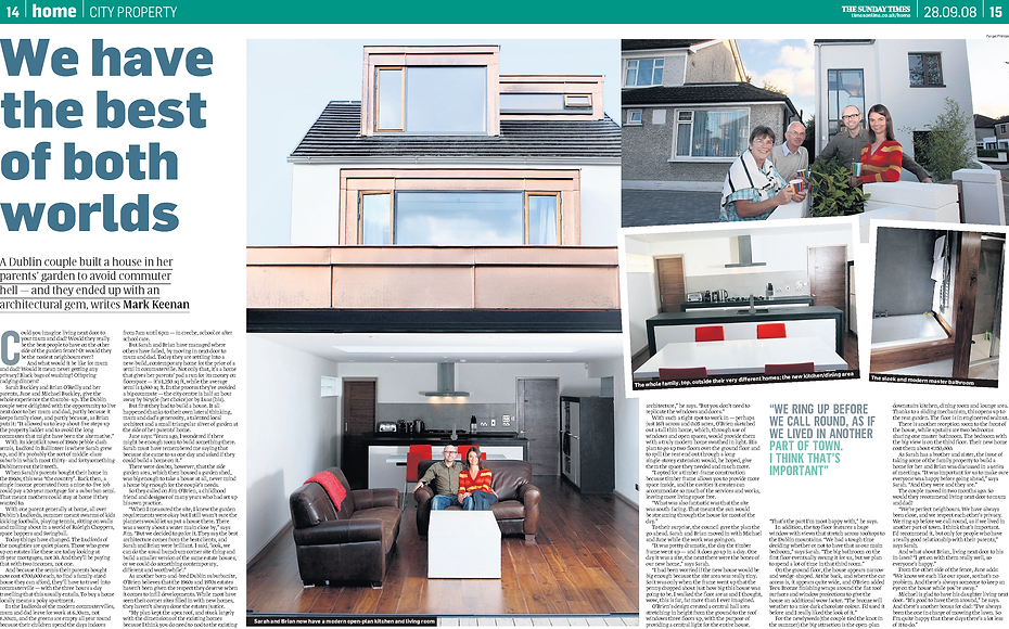 ViewThru in the Sunday Times - excellent house design
