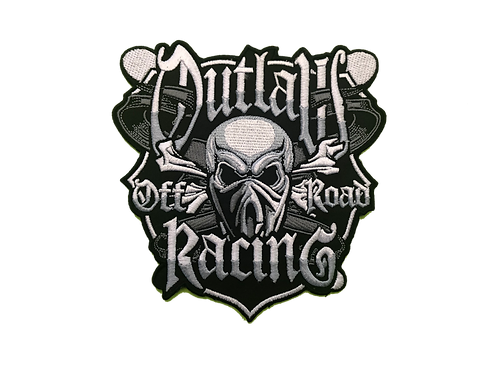 """Outlaw 5"""" x  5"""" Embroidered Patch"""
