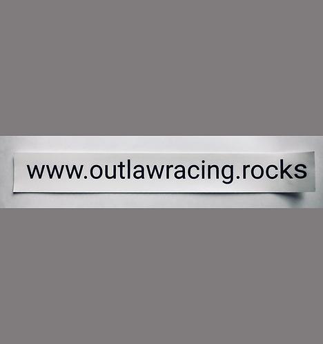 Website Bar Sticker Black or White