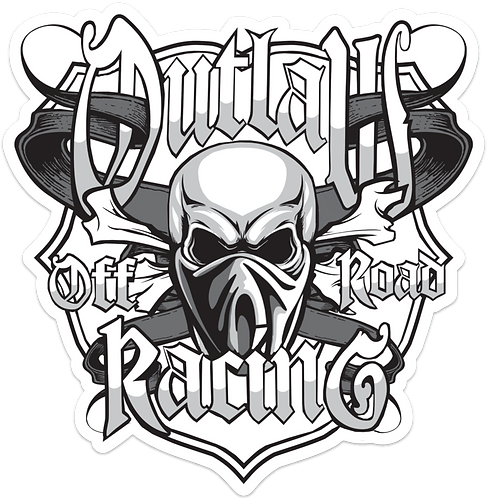 1ft x 1ft Outlaw Logo Decal