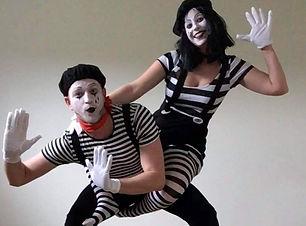 mime en mimespelers evenementen act en typetje straatanimatie