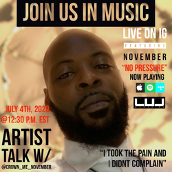 """November chops it up with us about his new single """"No Pressure"""""""