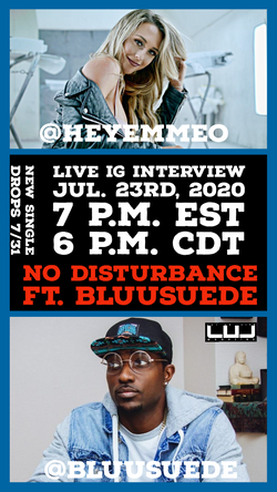"""Emme Ft. BluuSuede Exclusive Interview about """"NO Disturbance"""" Single dropping 7/31"""