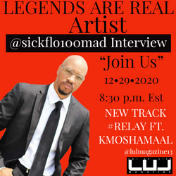 living in music with artist and legend @sickflo100mad