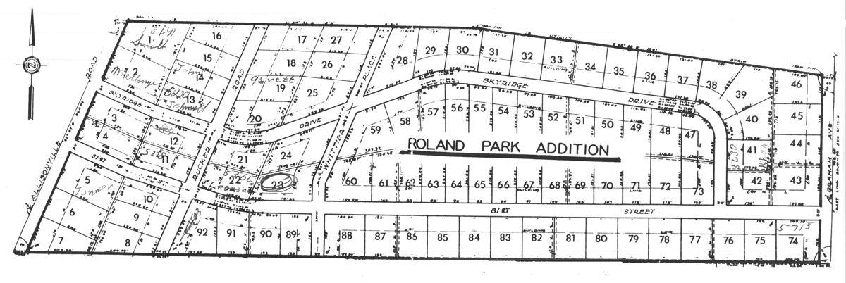 Roland Park Plat Map