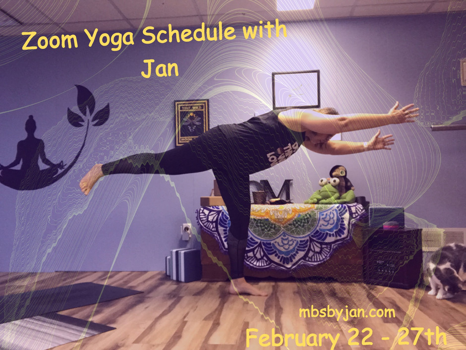 Zoom Yoga Schedule February 22-27th
