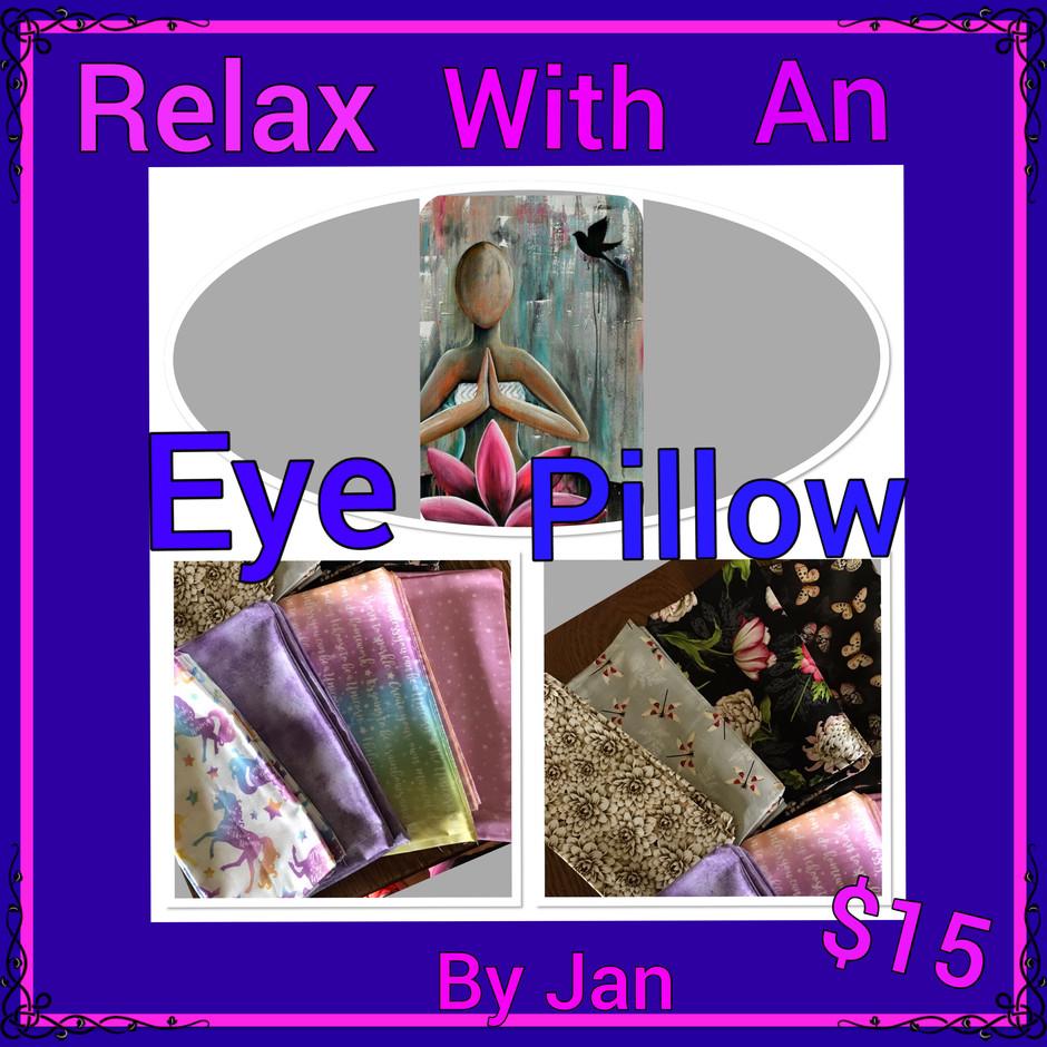 Now offer Handmade Eye pillows