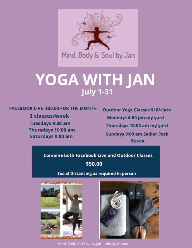 Yoga with Jan in July 2020