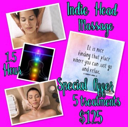 Indie Head Massage Special offer