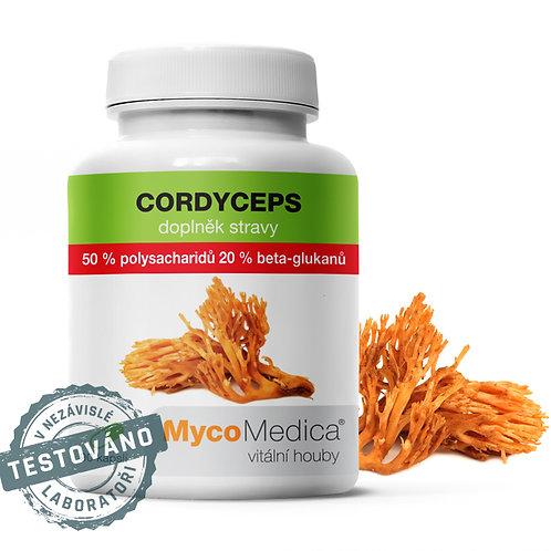 Cordyceps 50 % ve vysoké koncentraci   MycoMedica