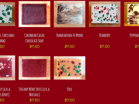 Autumn & Holiday Handmade SOAP!