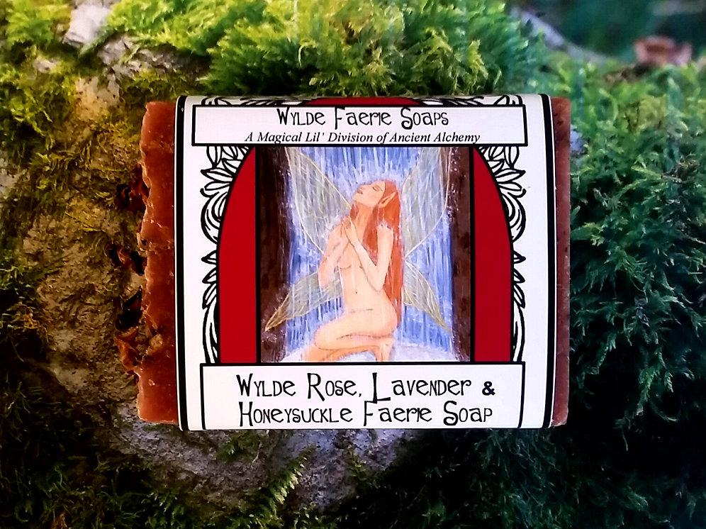 Wylde Faerie Soap - Rose, Lavender & Honeysuckle | ancientalchemysoaps