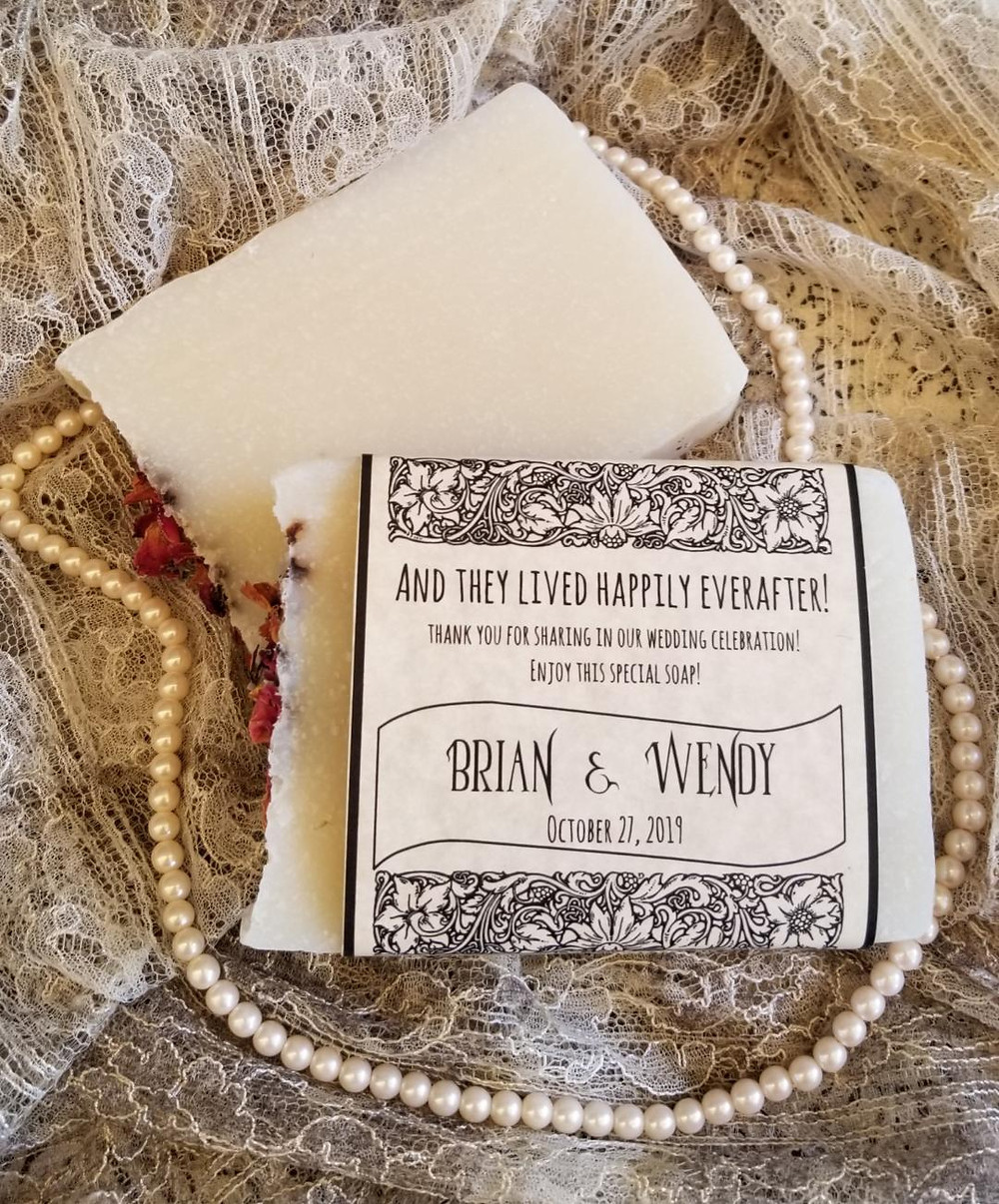 Wedding favor soap