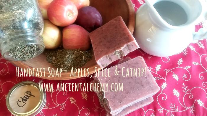 Handfast Soap - Apples, Spice & Catnip!  www.ancientalchemy.com