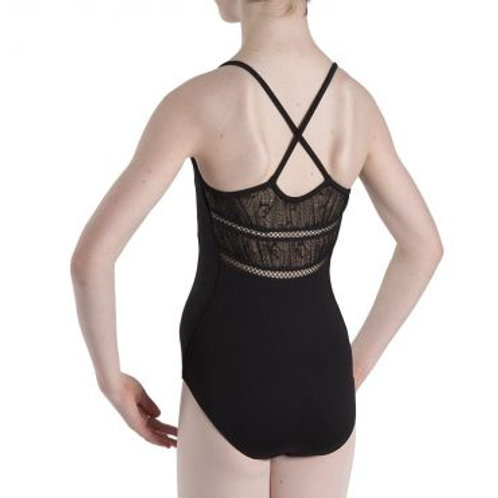 Bloch Vipula Cami Cross Gathered Lace Leotard