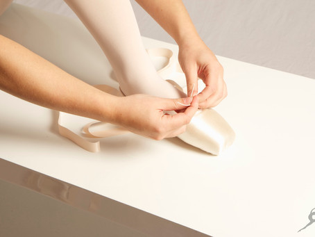 How to tie pointe shoe ribbons
