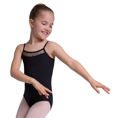 Bloch Goidron Glitter Tulle Front Double Bow Back Girls Leotard