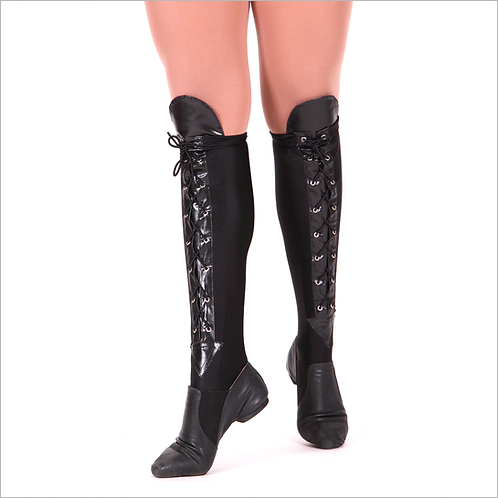 Dance Trends Leather Lace Up Spats