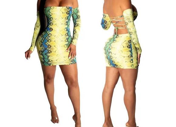 TJo Look Good In Yellow, Snake skindress