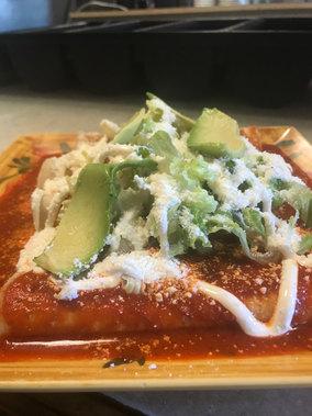 Red Sauce Enchiladas