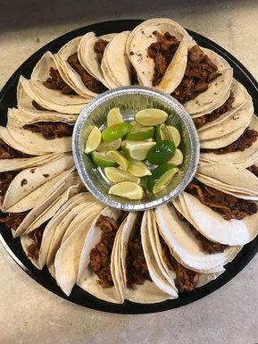 Marinated pork Taco Tray